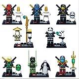 Hot!8 set Lloyd Airjitzua Moro Kai Jay Zane Nya Sensi Wu Ninja Figure Blocks Toy