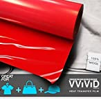 VViViD Red Heavy-Duty Iron-on Heat Transfer Vinyl Film (12'' x 30ft Roll)