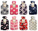 Hot Water Bottle with Soft Fleece Co