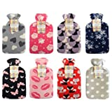 Hot Water Bottle with Soft Fleece Cover