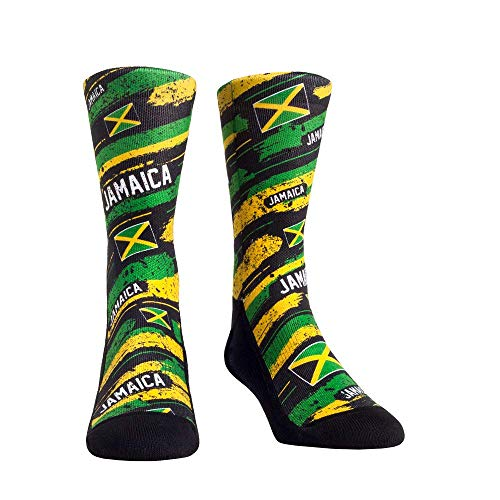 International Country Flag Rock 'Em Socks (One Size, Jamaica - Country Flag Paint)
