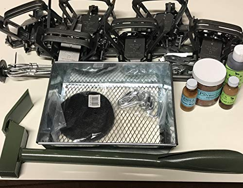 (Coyote Trapping Package 6 - #2 Duke (4 Coil) OS Square jaw Traps by Fox Pro Snares)