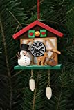 Tree ornaments Tree Ornaments Cuckoo Clock Snowman with Well - 7,0x6,7cm / 3x3 inch - Christian Ulbricht
