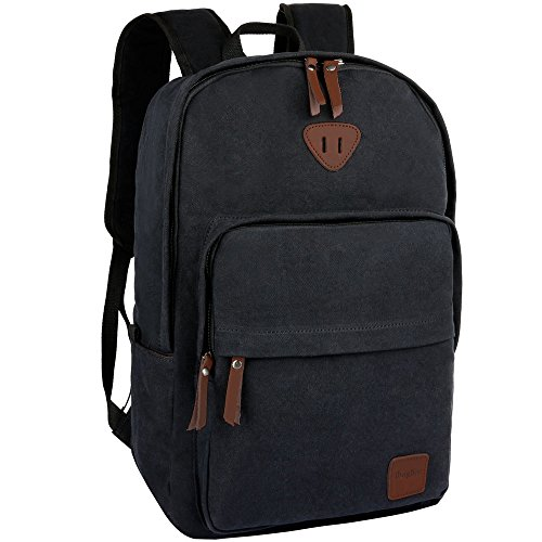 84a473418e Ibagbar Vintage Canvas Backpack Rucksack Laptop Bag Computer Bag Daypack Travel  Bag College Bag Book Bag School Bag Gym Bag Sports Bag Hiking Bag Camping  ...