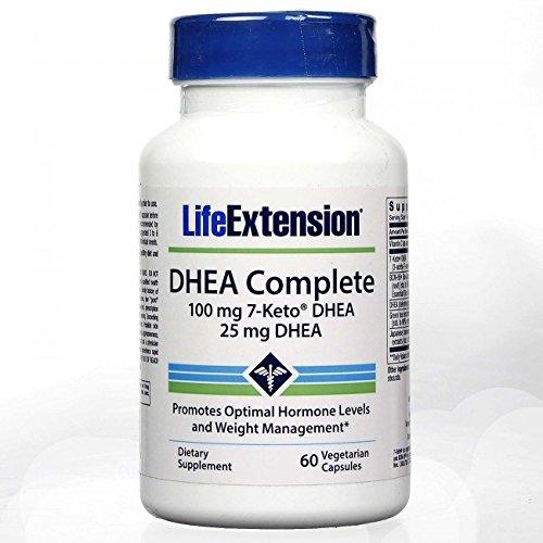 Life Extension DHEA Complete, 100 mg 7-Keto DHEA, 25 mg DHEA, 60 Capsules