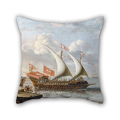 18 X 18 Inches / 45 By 45 Cm Oil Painting A Castro, Lorenzo - A Galley Of Malta Pillow Covers Twin Sides Is Fit For Relatives Lounge Home Home Office Birthday Pub (Gel Pedic Pet Bed Cover)
