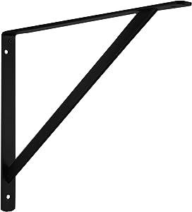 John Sterling THE MAX BRACKET Shelf Bracket, 20-inch, Black, 0049-20BKH