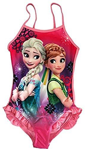 [NEW Girls Official Licensed Disney Frozen Anna Elsa Swimming Costume / Bikini / Swimwear (8 Years(128 CM),] (Anna Costume Ideas)