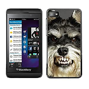 VORTEX ACCESSORY Hard Protective Case Skin Cover - angry dog teeth cairn Terrier pet - Blackberry Z10