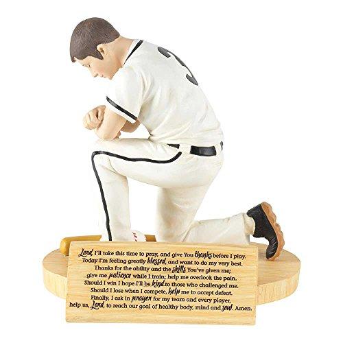 Hear Our Prayer Kneeling Baseball Player 5 x 5.5 Resin Stone Tabletop Figurine Baseball Player Figurine