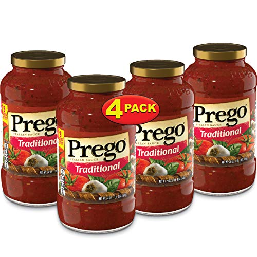 (Prego Pasta Sauce, Traditional Italian Tomato Sauce, 24 Ounce Jar (Pack of 4))