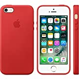 Apple Authentic Leather Case for Apple iPhone 5/5s/SE - Red