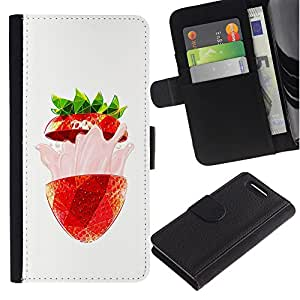 ZCell / Sony Xperia Z1 Compact D5503 / Strawberry Burst Flavor Summer Red / Caso Shell Armor Funda Case Cover Wallet / Fresa Burst sabor Verano R