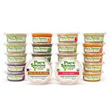 Pure Spoon Garden Fresh Organic Stage 1 & 2 Baby Food Sampler, 4.2oz (Pack of 24)