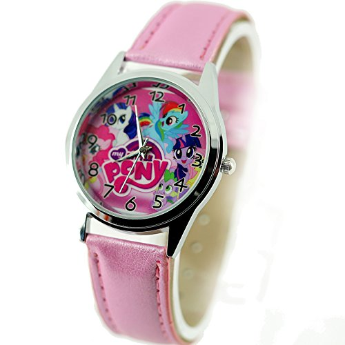 TAPORT My Little Pony Quartz Watch Leather Pink Band Dial Disney + Spare Battery + Gift Bag