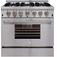 AGA APRO36AGSS 36 Professional Gas Range with RapidBake Convection, Stainless Steel