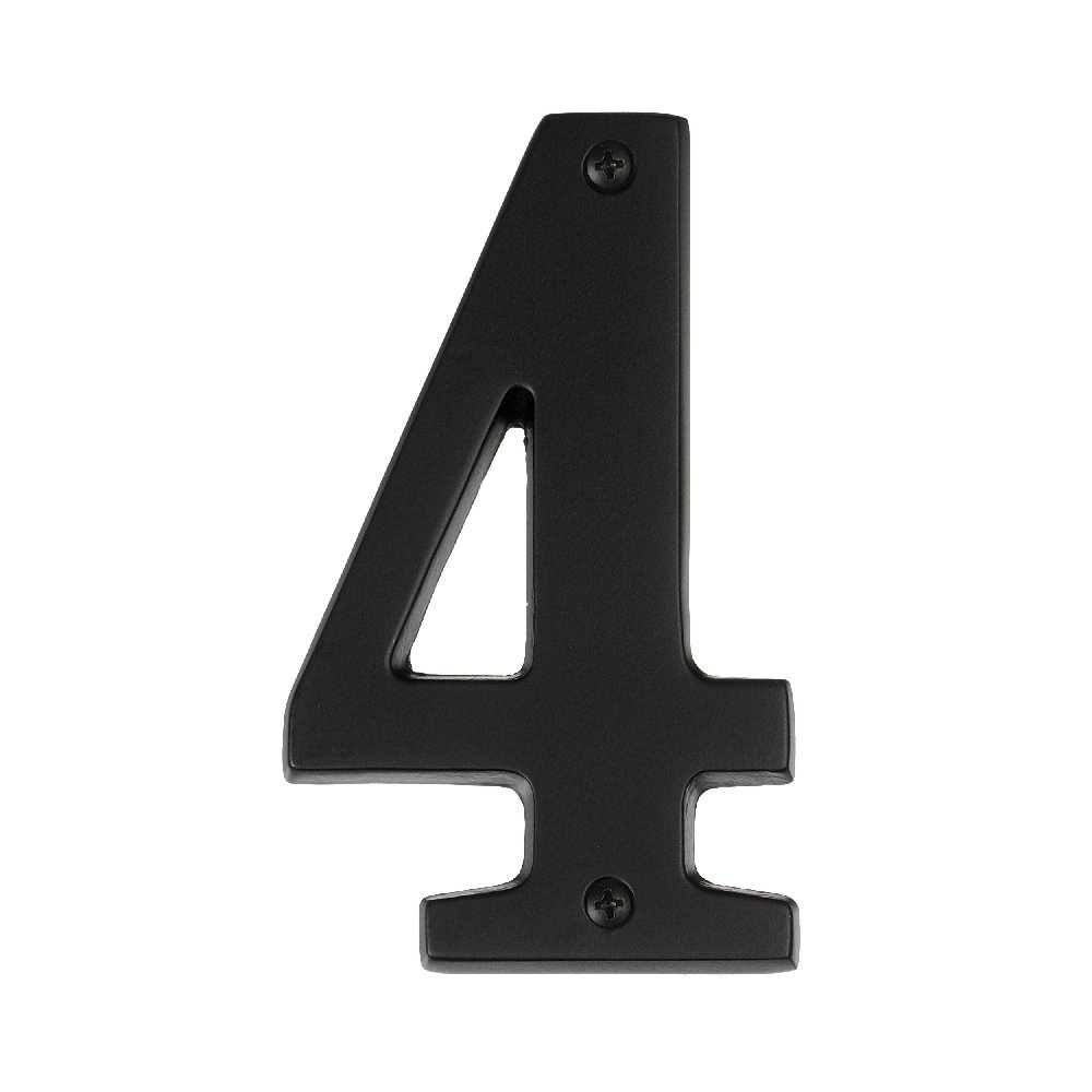 "Alno AP4-5-MB Transitional House Numbers, 5"", Matte Black"