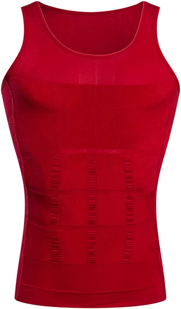 BaronHong Gynecomastia Compression Shirt Vest to Hide Man Boobs Moobs Slimming Mens Shapewear Flatten Whole Abdomen