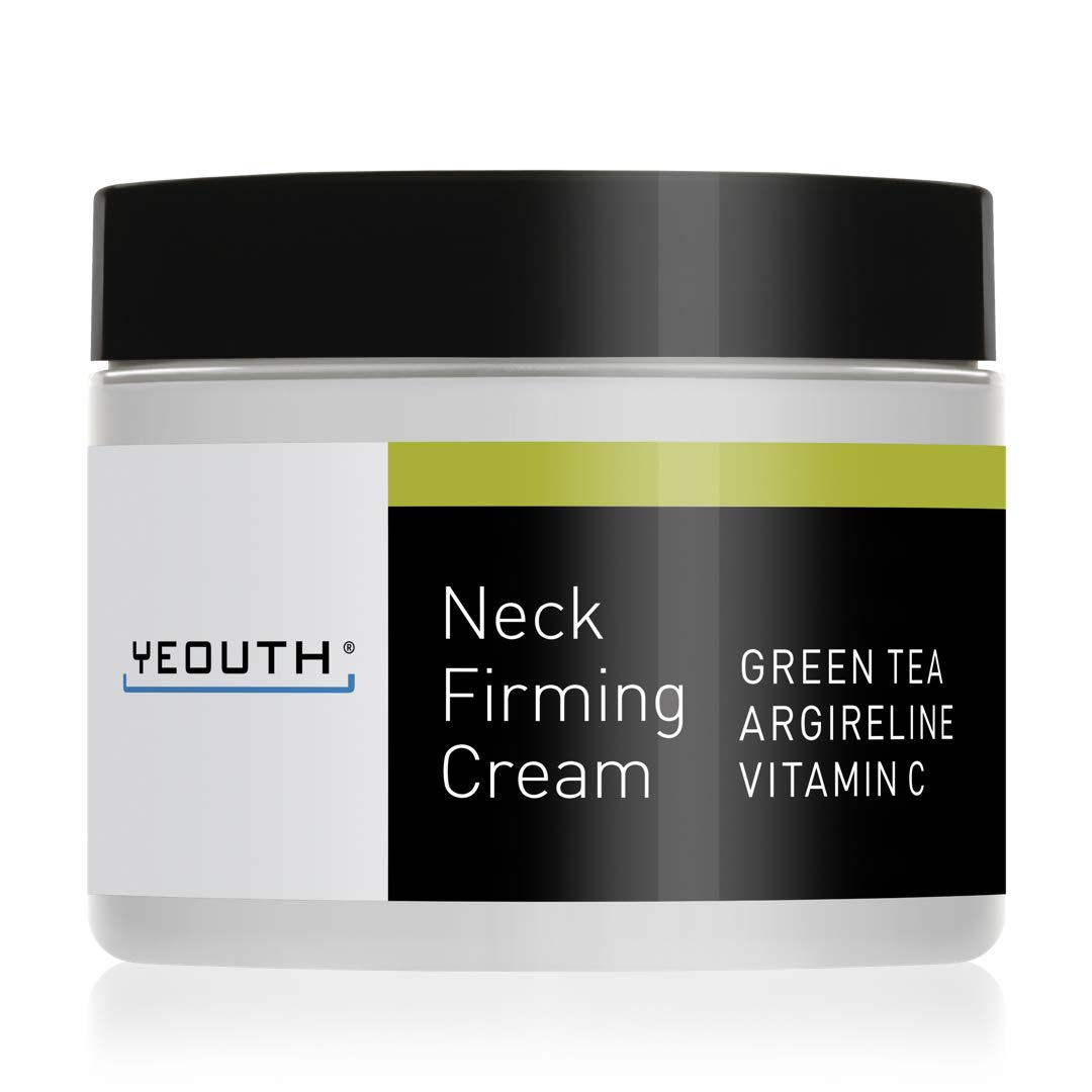 YEOUTH Neck Cream for Firming, Anti Aging Wrinkle Cream Moisturizer, Skin Tightening, Helps Double Chin, Turkey Neck Tightener, Repair Crepe Skin with Green Tea, Argireline, Vitamin C - 2oz by Yeouth