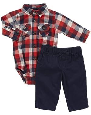 Carter's Baby Boys Boy 2-pc Bodysuit Pant And Woven Shirt