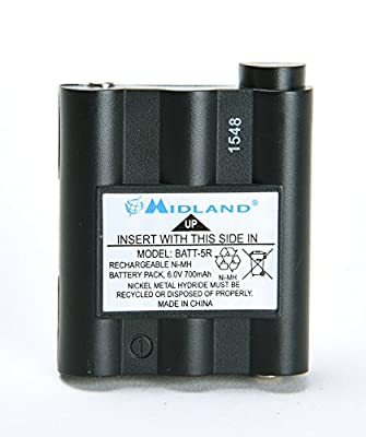 Original Midland BATT5R AVP7 for GXT Walkie Talkie (GXT1000 GXT1050 GXT850 GXT860 GXT900 GXT950, and more) from Midland
