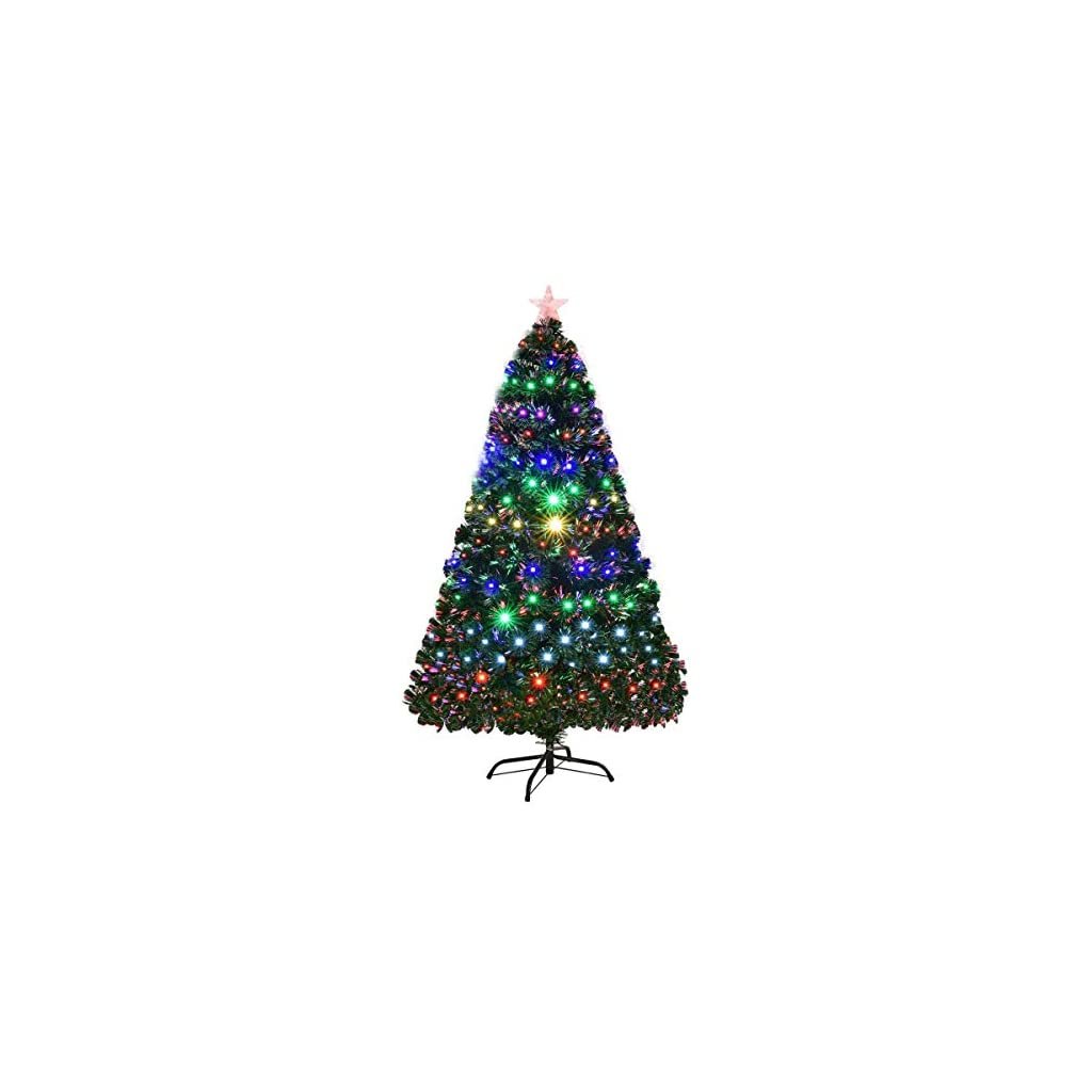 Goplus-Artificial-Christmas-Tree-Pre-Lit-Optical-Fiber-Tree-8-Flash-Modes-WUL-Certified-Multicolored-LED-Lights-Metal-Stand