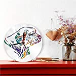 Yxungdiy Modern Decorative Round Wall Clock Colorful Outline Portrait Dog Clumber Spaniel Battery Operated 9.8IN 6
