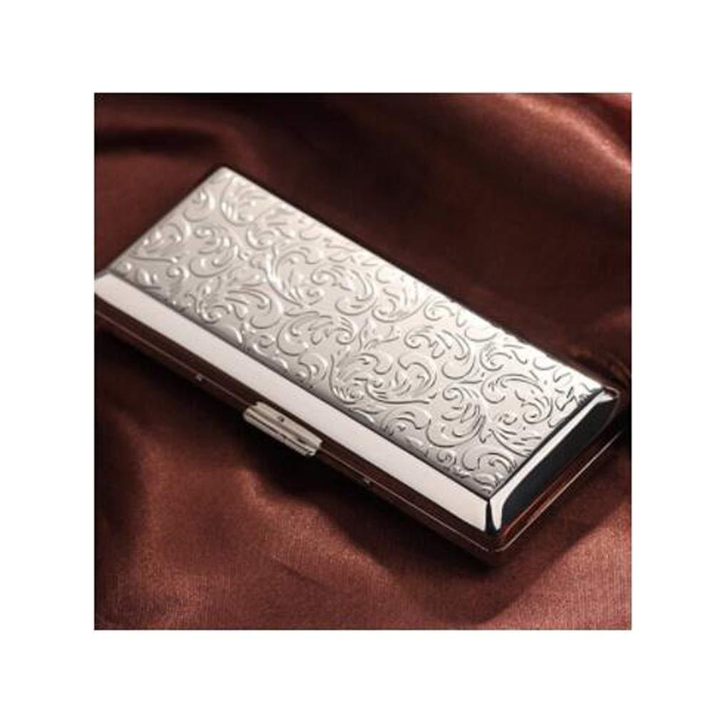 KALMAR Cigarette Case, Portable Ultra-Thin Creative Personality Stainless Steel Cigarette Case, Metal Cigarette Holder, Regular 10 Pieces, Fine Smoke 14 Pieces Cigarette Box Cigar Protective Cover