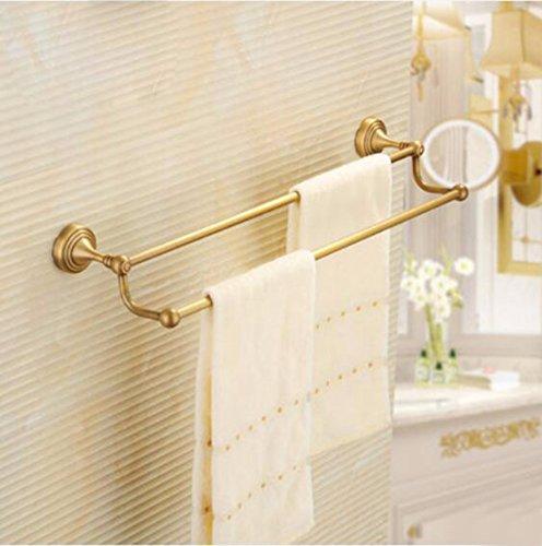 Sursy Cuarto de baño, cuarto de baño, de estilo europeo del colgador toallero todo el cobre antiguo, toallero doble, colgar la toalla varilla, ...