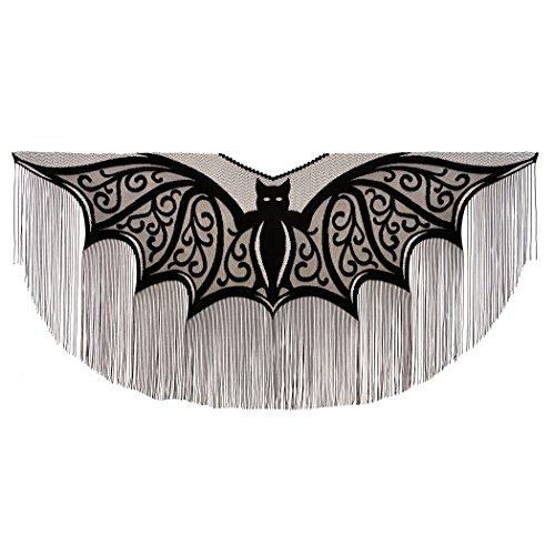Heritage Lace Halloween Bats Fringe Poncho Costume , 57