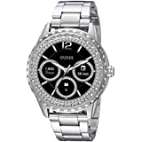 GUESS Women's Connect Androidwear' Quartz Stainless Steel Casual Watch, Color:Silver-Toned (Model: C1003L3)