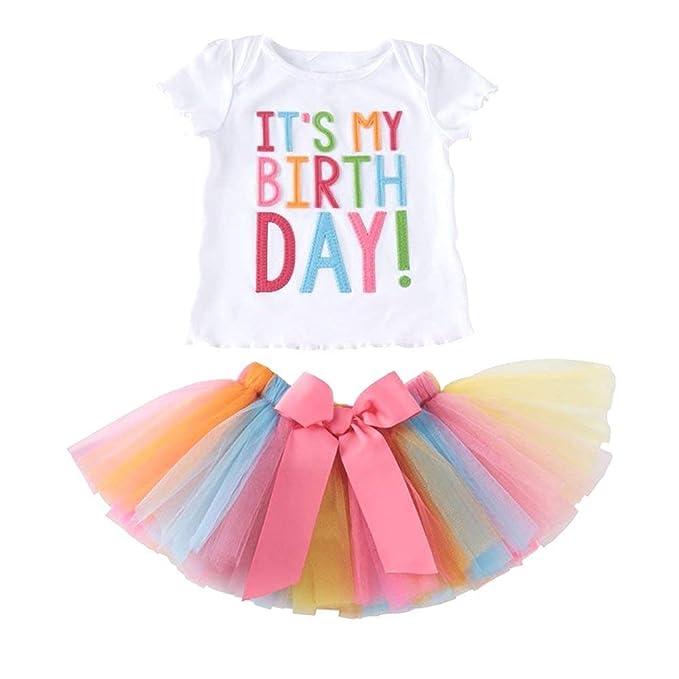 Le Ssara Bambine E Il Mio Compleanno Ricamo T Shirt Set Gonna A
