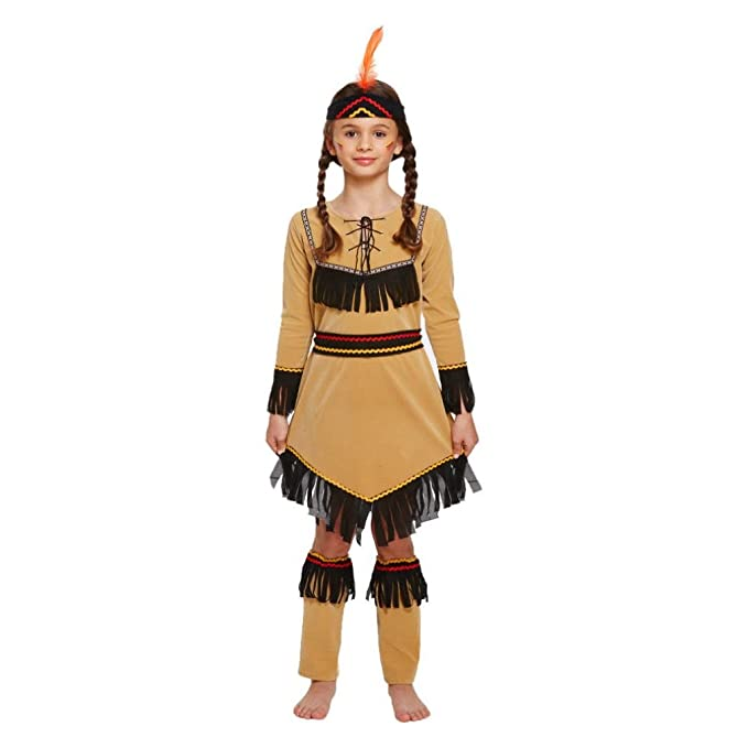 7dbcaade702ce CHILD AMERICAN INDIAN GIRL Fancy Dress Costume Kids Girls Outfit Birthday  Party by Lizzy®: Amazon.co.uk: Clothing