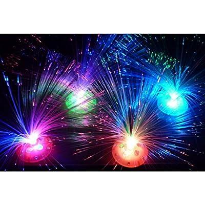 VANKER 1Pc Random Color Vogue Colorful Auto Changing Lamp Festival Party LED Fiber Optic Night Light