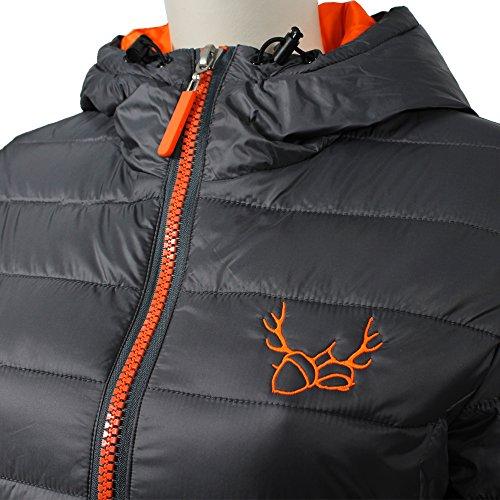 Resultado de la mujer r194F Urban Snow Bird chaqueta con capucha gris y naranja