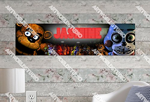 Customized Name Painting Five Nights at Freddy's Poster With Your Name On It Personalized Banner