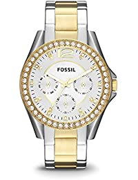 Fossil Women's ES3204 Riley Silver and Gold Tone Watch