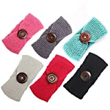 Ranipobo Pack of 6 Baby Girl Knit Crochet Turban Headband Warm Headbands for Newborn Hair Head Bowknot Band