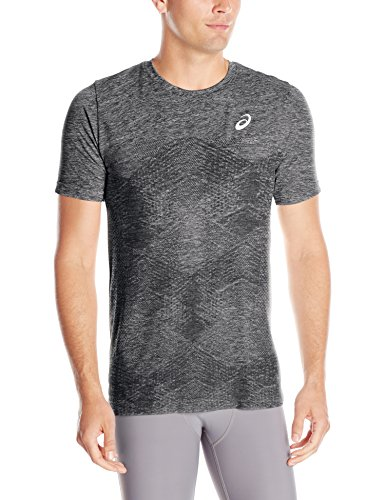 ASICS Men's Seamless Short Sleeve Top, Performance Black, Large