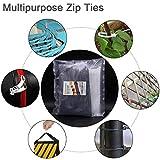 500 Pack White Black Zip Ties 8 inch Heavy Duty