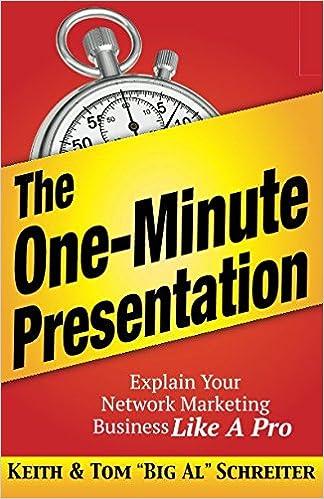 The one-minute presentation ebook by keith schreiter.