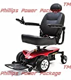 Pride Mobility - Jazzy Elite ES Portable Power Chair - Jazzy Red - PHILLIPS POWER PACKAGE TM - TO $500 VALUE