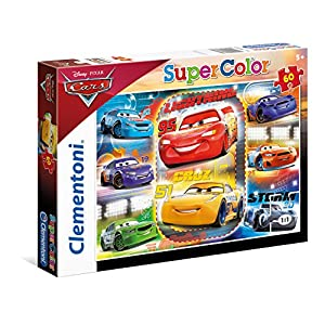 Clementoni Cars Mc Queen E Cruz Supercolor Puzzle Multicolore 60 Pezzi 26973