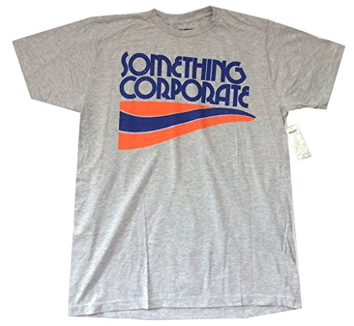 Something Corporate Wave Logo Heather Grey T Shirt Soft (L)