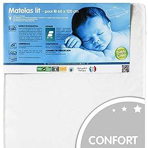 Babycalin - Matelas bébé traité Biome - 60x120x10 cm 74