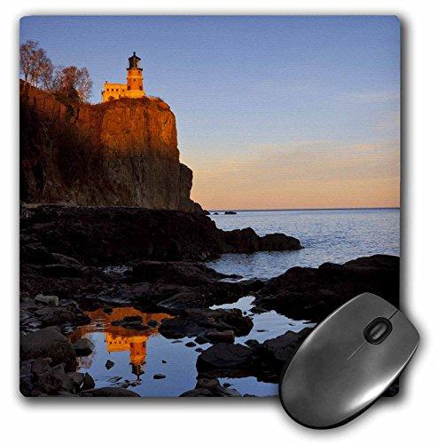 (3dRose LLC 8 x 8 x 0.25 Inches Mouse Pad, Split Rock Lighthouse Two Harbors Minnesota Chuck Haney (mp_91374_1))