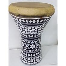 "1PCS Large Egyptian Wooden Tabla Drum Doumbek Goat Skin Inlaid Handmade 11"""