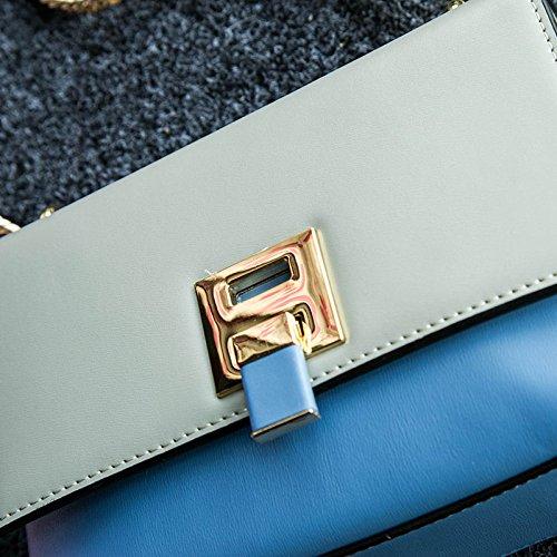 JPFCAK Damen Handtaschen Kette Taschen Damen Schultertaschen Leder Blau Handtaschen Damen Handtaschen Messenger Bags Blue hRe2N9q5Qu