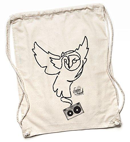 Kane Grey Kane Grey - Owl You Need - Bio Turnbeutel aus Segeltuch in Natur - Bolso mochila  de Lona para mujer beige naturaleza One size