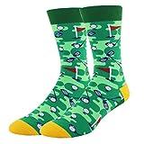 Men Funny Golf Crew Socks